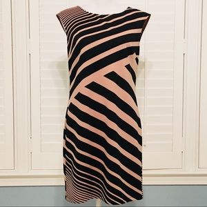 NWT Ann Taylor LOFT striped dress w/ pink zipper-4